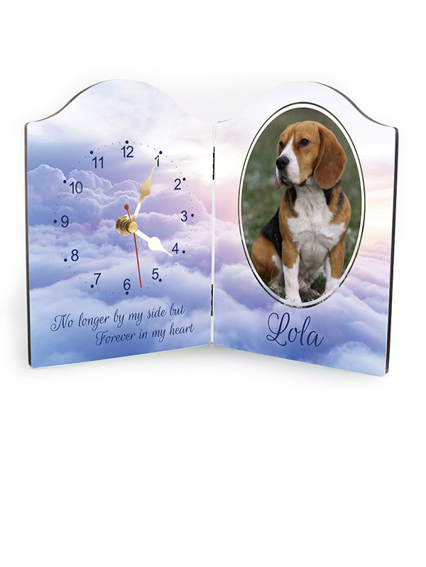Pet memorial photo clock