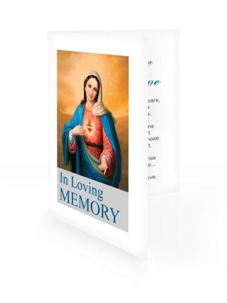 Blessed Virgin Mary - Folding memorial card template - Religious  66