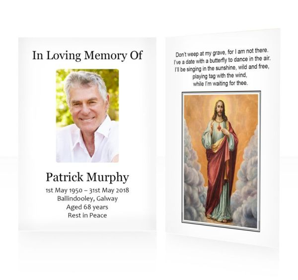 Jesus Divine Mercy - memorial wallet cards template - Religious  63