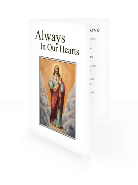 Jesus Divine Mercy - Folding memorial card template - Religious  63
